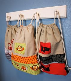 Canvas Draw String Back Pack #DIY