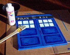 DIY TARDIS Canvas Painting Tutorial - Doctor Who! www.createinthechaos.com