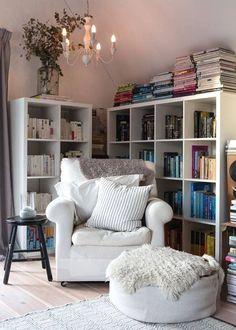 35 idée Aménagement et décoration d'un coin lecture