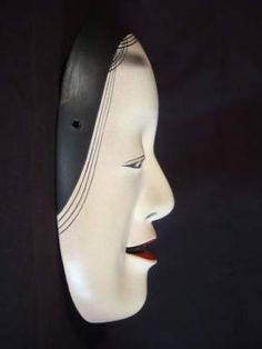 Japanese Noh Mask, Noh Theatre, Japanese Folklore, Basara, Japanese Design, Ancient Art, Carving, Asian, Puppets
