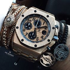 Audemars Piguet and bracelets.