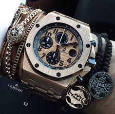 Audemars Piguet and bracelets.