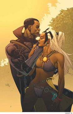 ✭ Storm and Black Panther by Leinil Francis Yu