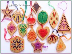 Scroll Saw Patterns :: Holidays :: Christmas :: Various ornaments :: Feather ornaments #2 -