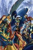 All-New, All Different Avengers 1 Cover Featuring Vision, Thor (Female) & More Placa de plástico por Alex Ross