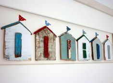 Beach House Decor Sixty-One A: Driftwood Beach Huts by Kirsty Elson Designs . Beach house decor Sixty-one A: Driftwood beach huts from Kirsty Elson Designs #