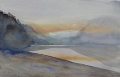 Paintings - prices include courier with in New Zealand, please contact me for overseas postage options. New Zealand Landscape, Artist Painting, Paintings, Watercolor, Pen And Wash, Watercolor Painting, Paint, Painting Art, Watercolour