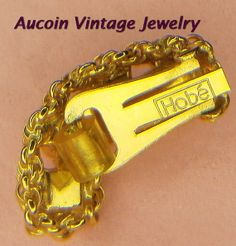 Hobe' Signed Gold Tone Clip Earrings with by Aucoinvintagejewelry, $40.00