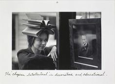Duane Michals, The Chapeau intellectual is decorative and educational, 1992.