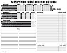 WordPress blog maintenance checklist