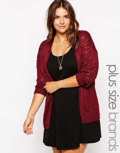 New Look Inspire Pointelle Detail Cardigan