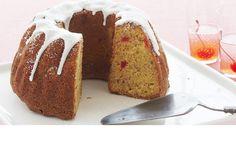 Hummingbird Cake made with Duncan Hines Yellow cake mix.