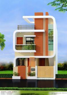 House Outer Design, House Outside Design, Unique House Design, House Front Design, Indian House Exterior Design, Modern Exterior House Designs, Modern House Facades, 2 Storey House Design, Bungalow House Design