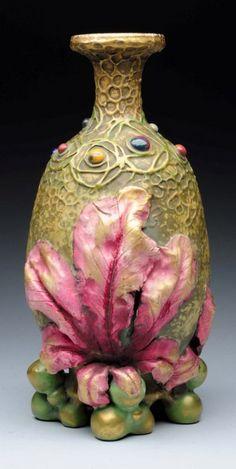 Amphora Ceramic Gres Bijou Vase. : 1904