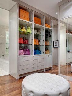 Closet Resolutions - love an ottoman in a closet