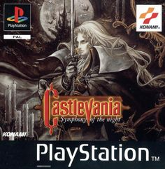 Box art by Ayami Kojima, 1997, Konami. The artists first cover art and the artwork that helped reinvented Castlevania.  Infamously not used for the US release.