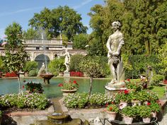 Gardens of Palazzo Pfanner, Lucca, Italy
