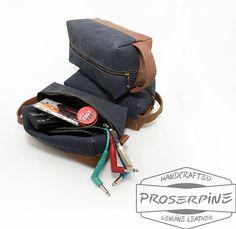 Cable case Handmade bag for musicians Music gift for men