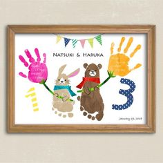 Handprint Art * Animals and Flowers * For Brothers and Twins- Handprint Art * Animals and Flowers * For Brothers and Twins - Baby Crafts, Toddler Crafts, Preschool Crafts, Diy And Crafts, Crafts For Kids, Fun Activities For Kids, Toddler Learning Activities, Kids Make Christmas Ornaments, Family Hand Prints