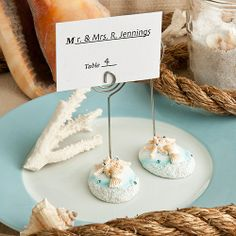 Life's A Beach - Place Card Holders for the Beach Themed Wedding.  Great For Any Seaside Event! ceceliasbestwishes.com