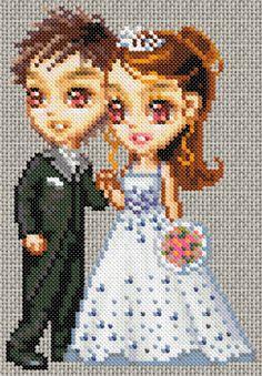 17/06/12 : Grille de point de croix gratuite - Couple de mariés