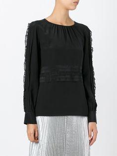Nº21 блузка с кружевной отделкой