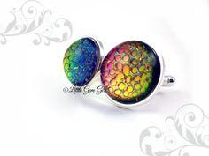 Dragon Egg 18mm Stainless Steel Cufflinks Color by LittleGemGirl