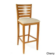 @Overstock - Italy Barstool - Give your kitchen or home bar area a touch of country-inspired charm with this wooden slat-back barstool. This pretty barstool is made from durable, solid beech wood for lasting performance and long service life. It has an upholstered seat for comfort.  http://www.overstock.com/Home-Garden/Italy-Barstool/7653012/product.html?CID=214117 $107.09