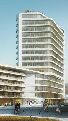 UNStudio Selected to Design Baumkirchen Mitte Tower in Munich,Courtesy of UNStudio