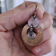 Mixed metals pendant