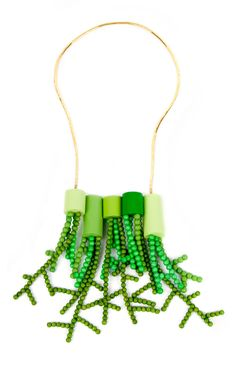 green vases necklace