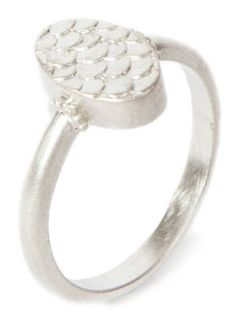 silver fish scale pattern artefact ring by ALISON MACLEOD-UK