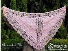 Tuch Schal häkeln - crochet shawl stola