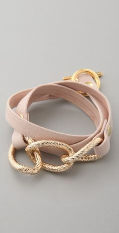 gorjana parker leather wrap bracelet. I'm totally obsessed with these leather wrap bracelets,