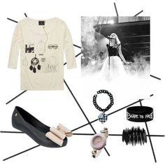 rock star by differentfashioncz on Polyvore featuring Pieces and CB2