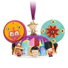 ''it's a small world'' Ear Hat Ornament   Ornaments   Disney Store
