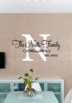 Custom Family Last Name Individual Family Names Vinyl Wall Art - Personalized vinyl wall art decals