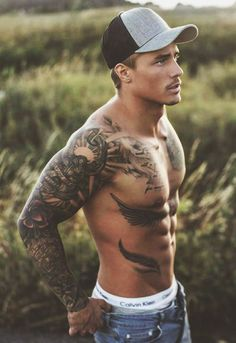 Thank you beautiful men, hot guys tattoos, life tattoos, sexy guys, sexy Johnny Edlind, Hot Guys Tattoos, Hair Tattoos, Sexy Tattoos, Life Tattoos, Tribal Tattoos, Tatoos, Country Boy Tattoos, Sexy Tattooed Men