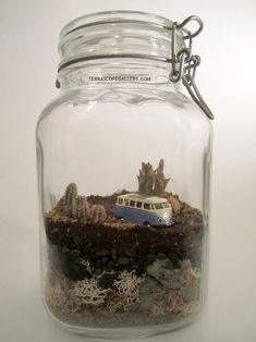 terrarium scene - VW Bus...Liv wants to make one of these in memory of Neal:)