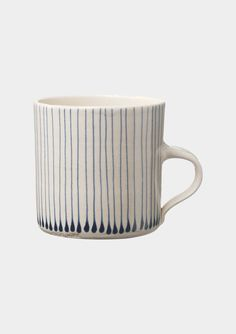 stripe drop mug, beautiful glaze work!