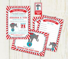From etsy Circus or Carnival Baby Shower Invitations I love