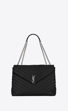 SAINT LAURENT Monogramme Loulou D large loulou chain bag in black