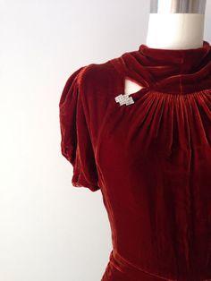 1930s Velvet Evening Gown Inspiration