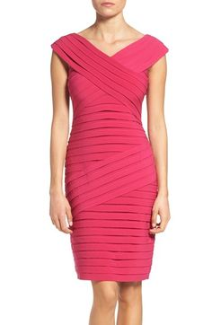 Adrianna Papell Shutter Pleat Sheath Dress available at #Nordstrom