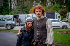 *New/Old* Pics of Sam and Cait Filming Outlander S2 |