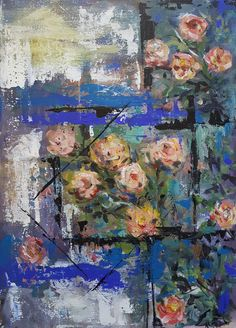 Still life with roses/ painting, acrylic on canvas