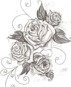 Tattoo idea. Rose drawing