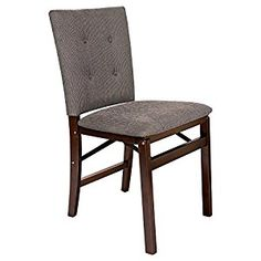 AmazonSmile - Stakmore Parsons Upholstered Folding Chair - Set of 2 - Chairs