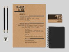 The Black Resume  Customizable #resume #template by cvfolio at http://www.cvfolio.com/