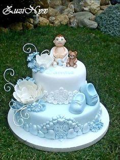 na krstiny | Torty od mamy Baby Cakes, Baby Shower Cakes, Christening, Birthdays, Birthday Cake, Cupcakes, Desserts, Baby Showers, Inspiration